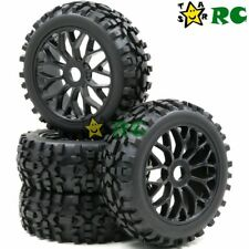 4pcs 1:8 RC Off Road Buggy Badlands Tire & Hex 17mm Wheels for 1/8 Losi HPI XTR
