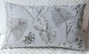 Handmade Grey and White Leaf Home Decor Cushion Cover  50x30 New