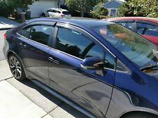 Window Visor Vent Shade Deflector Sun/Rain for Toyota Corolla 2019-21 Sedan 4dr.