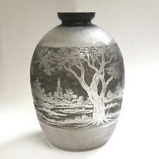 Vase en verre signé Nancea dlg DAUM