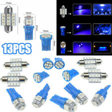 13x Blue LED Package Interior For Dome Map License Lights T10 & 31mm Bulb Lamp