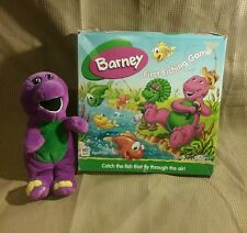 2000 BARNEY THE DINOSAUR  FIRST FISHING GAME 100% COMPLETE  with plush