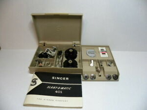 Vintage singer Accessories Box  401 401A (FILLED)