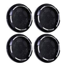 4x 50mm Universal Racing Car Wheel Center Hub Caps Covers Set Tyre Trim Black Yd
