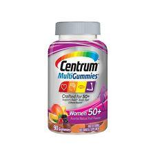 Centrum MultiGummies Women's 50+ Multivitamin Gummies Vitamin D3 B6 & B12- 90 Ct