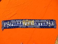 FORZA INTER Scarf Echarpe Sciarpa Bufanda Vintage Campione Ragazzi Ultra Milan