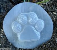 Gostatue woof plastic mold casting pawprint mold mould wax soap plaster cement