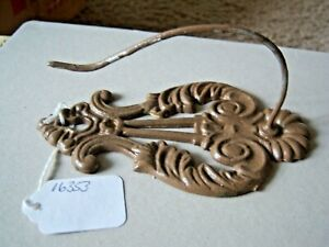 Vintage Large Art Nouveau Escutcheon 5-3/4 Inches Upcycled Hook Free Shipping