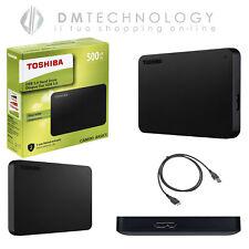 HARD DISK ESTERNO 2,5 USB 3.0 500GB-1TB-2TB-3TB TOSHIBA CANVIOB MOD 2018 NERO
