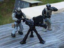 LEGO / Mega Bloks Perimeter Security Army Minifigures Soldiers # 4 & 5 & Minigun