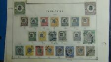 British Tanganyika stamp collection on Scott International pages ~ auction