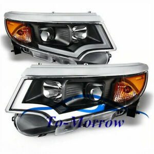 New Headlights HID Bi-xenon Projector And LED DRL For Ford Edge 2010-2014