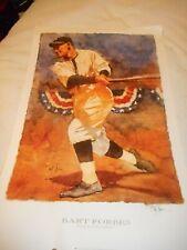 "ARTIST SIGNED   Bart Forbes poster print "" Fall Classic "" baseball sports art"