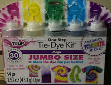 *TULIP*JUMBO*One-Step Tie-Dye Kit 5 Colors🌈54 pieces🌈 Dye Up To 30 Projects!