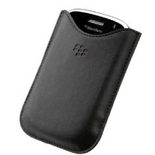 Leather Pocket Pouch Case Cover per BlackBerry Bold 9000 Torch 9800 9810-Nero