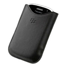 Leather Pocket Pouch Case Cover for BlackBerry Bold 9000 Torch 9800 9810 - Black