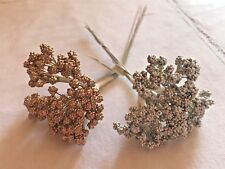 Berry Bunches Sprays Pips Berries Floral Favors Metallic Gold Silver 144 pcs