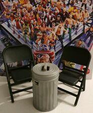 Brown Wrestling Table et 2 chaises noires-Figurine Accessoires environ 15.24 cm 6 in noir échelle