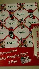 Personalized gift wrap wrapping Christmas xmas Nip Crystal stockings