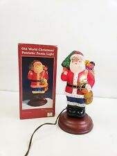 Merck Old World Christmas Glass Santa Light-Patriotic Santa-1996 in box