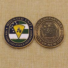 NYPD Police Mounted Unit Horse Challenge Coin - New York City