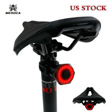 MEROCA USB Rechargeable Rear Light Lamp MTB Bike LED Saddle/Seatpost Lights