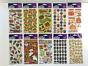 Sticko EK Success Lot of 10 Halloween Sticker Packs NEW Scrapbook Cards Crafts
