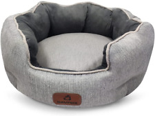 New listing Savfox Cats Bed Small Dog Bed, Improve Sleep Washable Comfort Round Pet Bed for