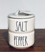 New Rae Dunn Mini SALT & PEPPER Stacker Cellar Canister LL VHTF