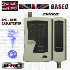 CCTV and NETWORK CABLE TESTER / COAXIAL BNC / ETHERNRNET RJ45 / BATTERY POWERED