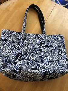 Vera Bradley Flower Get Carried Away Tote Carry On Overnight Bag NWT