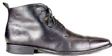 Hugo Boss Mens Boots size 9M Black Leather Bicycle Toe Ankle (PBx)