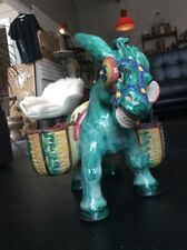 Huge Vintage Italian Pottery Donkey Planter - Deruta Italy Ceramics