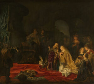 """perfect oil painting handpainted on canvas """"the false idols of king solomon""""9030"""