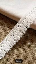 Ivory Off White 20mm Delicate Trim Tassel Fringe DIY Cotton Lace Price per 30cm