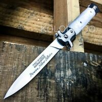 TAC-FORCE Godfather Pearl Stiletto Spring Assist Open Folding Blade Pocket Knife