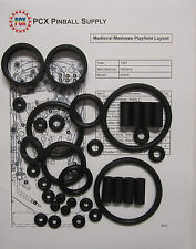 1997 Williams Medieval Madness Pinball Machine Rubber Ring Kit