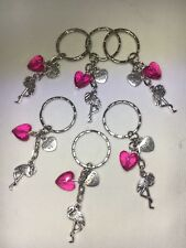 6 x Flamingo party bag fillers, bag charms, favours lucky dips, buy 2+ free gift