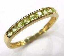SYJEWELRYEMPIRE LOVELY 10KT YELLOW GOLD NATURAL PERIDOT BAND RING SIZE 7 R1103