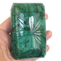 Natural Carved Emerald 2449 Cts Certified Stunning Huge Museum Size Gemstone