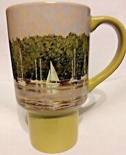 "Lang & Wise Harbor Sails Coffee Mug 6"" Tall Sailboats 2007 by Tim Coffey Green"