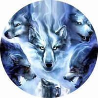 4x4 Spare Wheel Cover 4 x 4 Camper Camper Graphic Vinyl Sticker Wolves 92