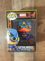 Funko Pop! Marvel Black Light Captain America #648 SAME DAY FAST SHIPPING