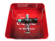 Coca-Cola Tin Napkin Holder with Bottle Shaped Weight Black and Red Ombre