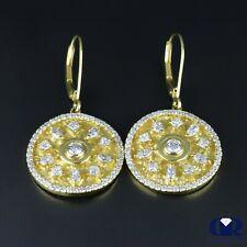 envío gratuito ~ RRP £ 350 Diamante Anillo De Topacio Anillo De Oro Blanco De 9 QUILATES certificado AGI