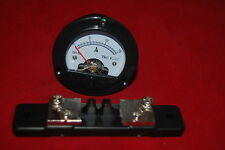 DC 0-15A Round Analog Ammeter Panel AMP Current Meter Dia. 66.4mm with Shunt
