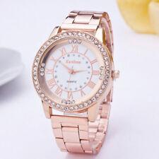 Crystal Diamond Stainless Steel Ladies Women Girl Quartz Wrist Watch Bracelet