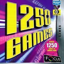 1250 Games - Arcade Word Casino Strategy Board Card Adventure Games Pc (2 Cd's)