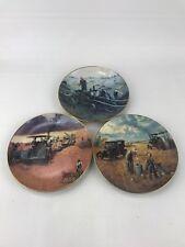 Set Of 3 Baling Hay Porcelain Plate Farming The Heartland Vintage 1990 Hg4