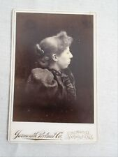 Antique Cabinet Woman Side  Portrait Yarmouth NS Great Clothing